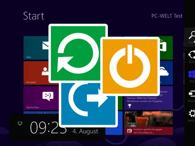 Як в windows 8 зробити кнопку вимикання?